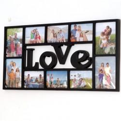 RAMKA NA ZDJĘCIA LOVE 10 zdjęć  71 cm x 36,5 cm