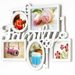 Ramka  na zdjęcia Family biała 10 zdjęć 72 cm x 36,5 cm