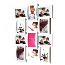 Ramka na zdjęcia MULTI biała 12 zdjęć FAMILY