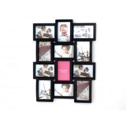 Ramka na zdjęcia MULTI czarna 12 zdjęć FAMILY